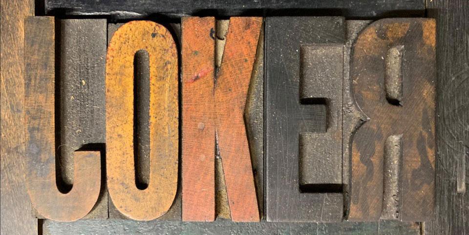 """El logo de la película """"Joker"""""""